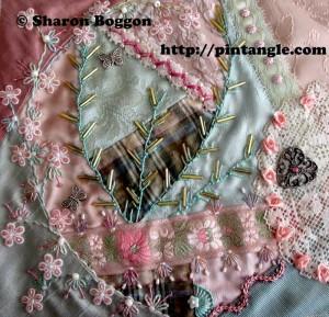 Crazy quilt block for Crazy Quilt Journal Project 2012