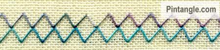 Arrowhead Stitch sample 3