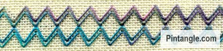 Arrowhead Stitch sample 4