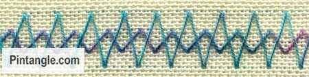 Arrowhead Stitch sample 5