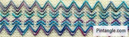 Arrowhead Stitch sample 7