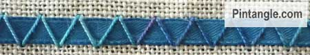 Arrowhead Stitch sample 8