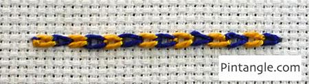tutorial of magic chain or checkered chain stitch