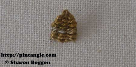 How to hand embroider Open Base Needlewoven Picot