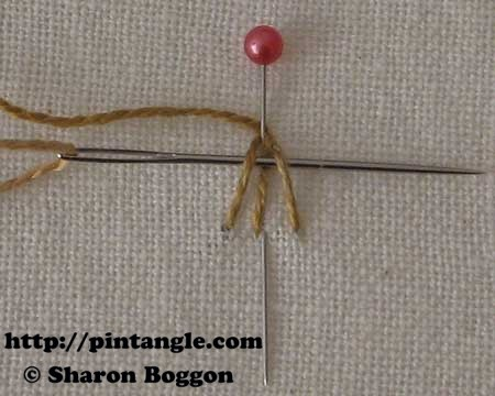 Open base needlewoven picot 4