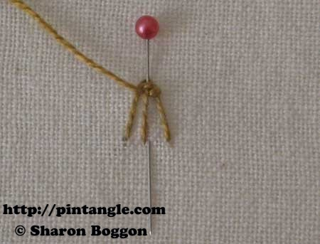 Open base needlewoven picot 7