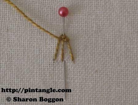 Open base needlewoven picot 7