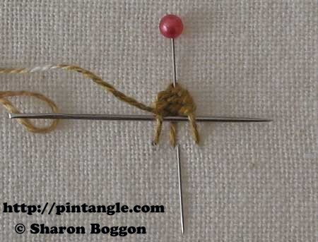 Open base needlewoven picot 8
