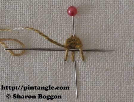 Open base needlewoven picot 8