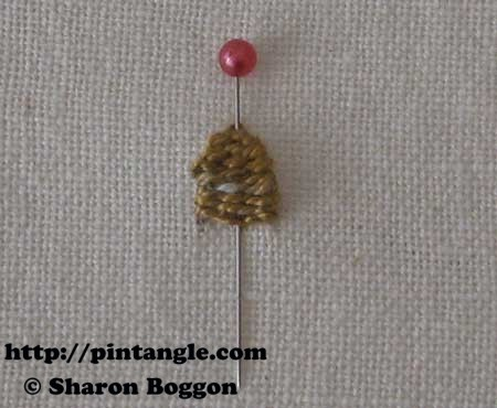 Open base needlewoven picot 9