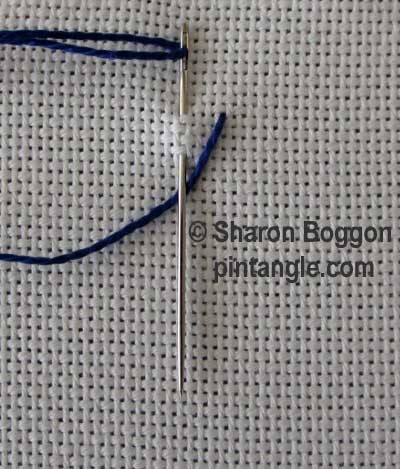 Inverted feather stitch