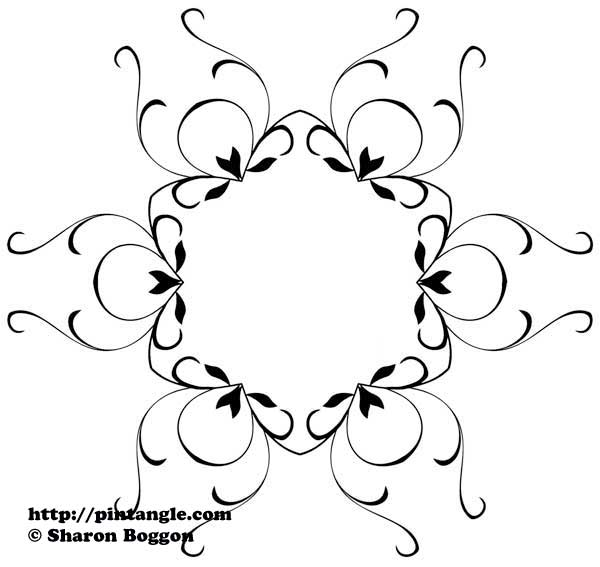 Friday Freebie Hand Embroidery Pattern Pintangle