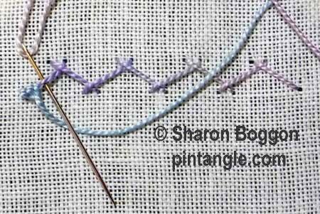 How to Hand Embroider Buttonholed Herringbone stitch