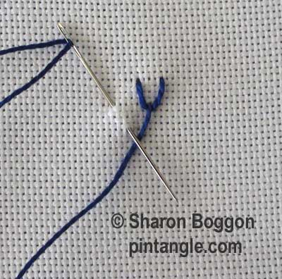 Triangular Feather Stitch step 2