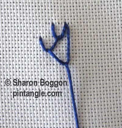 Triangular Feather Stitch step 4