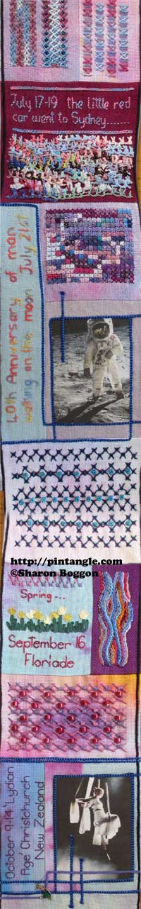 Journal needlework sampler