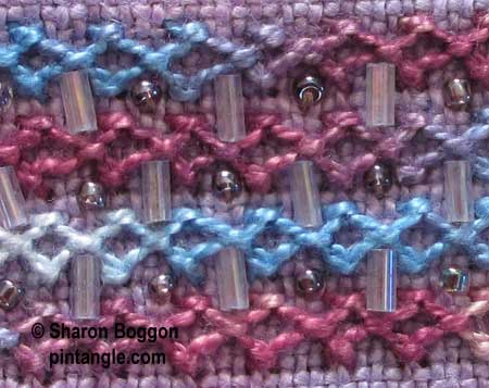 Diamond stitch sample