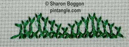 Breton stitch sample