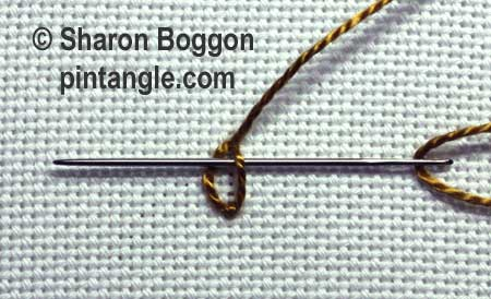how to work Woven detached chain stitch