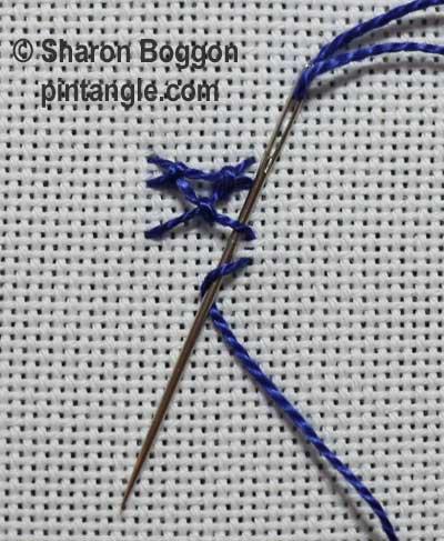 Diamond stitch step 12