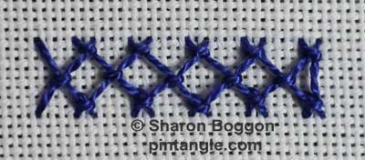 Diamond stitch step 13