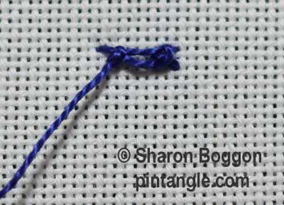 Diamond stitch step 6