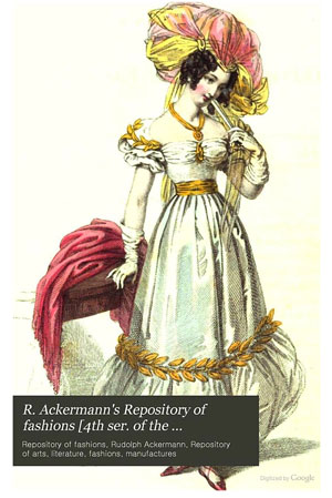 fashion illustration from R. Ackermann's Repository of Fashions