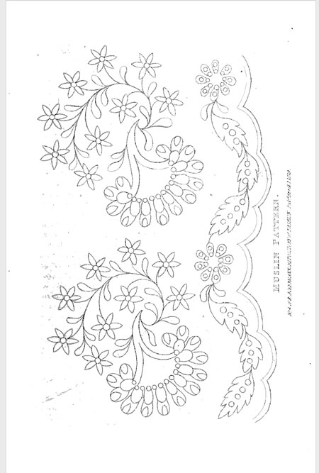 free embroidery pattern from R. Ackermann's Repository of Fashions