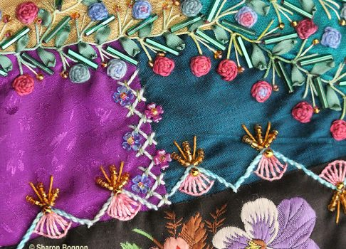 Alternating Up and Down Buttonhole Stitch
