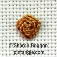 Raised cross stitch flower 6