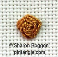 Raised cross stitch flower 6