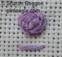 Raised cross stitch flower sample 2