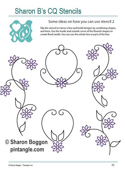 patterns created using Sharon B's CQ Stencils