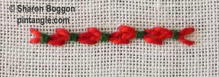 fancy hem stitch step 10