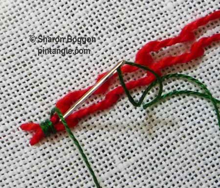fancy hem stitch step 7