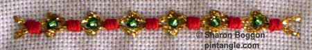 fancy hem stitch needlework sample 2