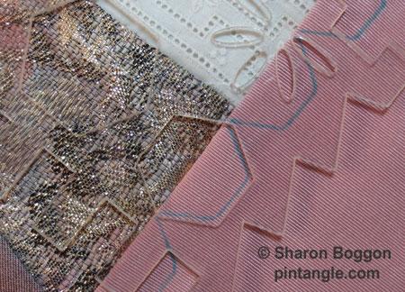 marking seam with Sharon B's CQ Stencils