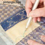marking seam Sharon B's Crazy quilt templates