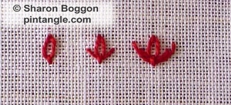 Tulip Stitch or Slipped Detached Chain Stitch