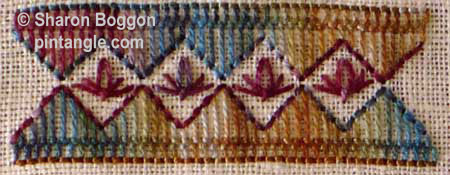 sample of Slip detached chain stitch