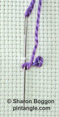 Crested chain stitch 2