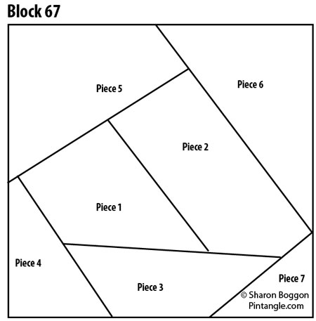 Crazy quilt block 67 pattern