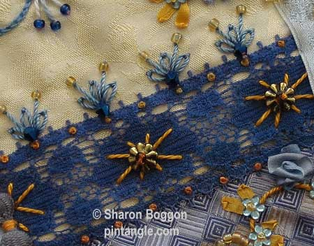 Crazy quilt block 37 detail 2