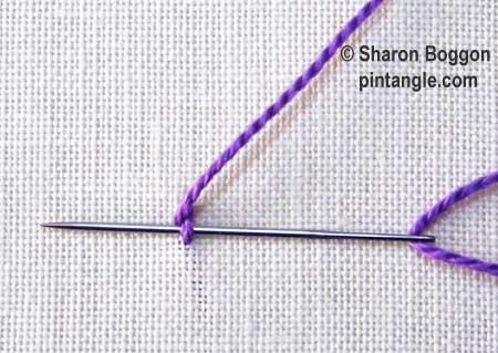Portuguese stem stitch step 3