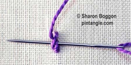 Portuguese stem stitch step 8