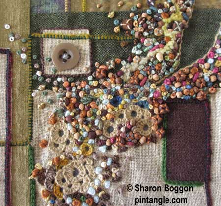Needlework Detail 620 on the For love of Stitching Band Sampler
