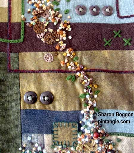 needlework Band sampler detail
