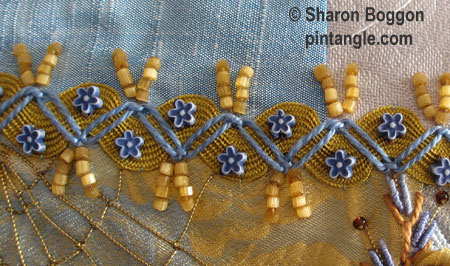 zigzag chain stitch sample