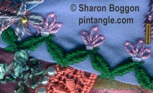woven zigzag chain stitch ample