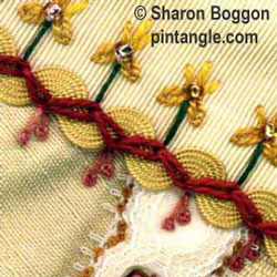 zig-zag chain stitch sample 1